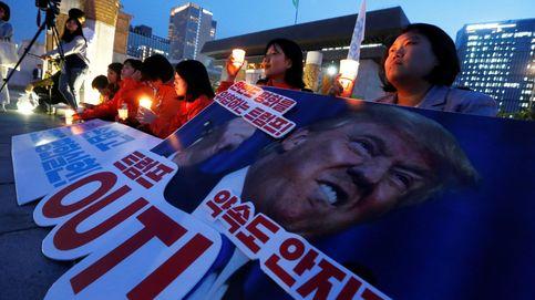 Protestas en contra de Trump en Seúl