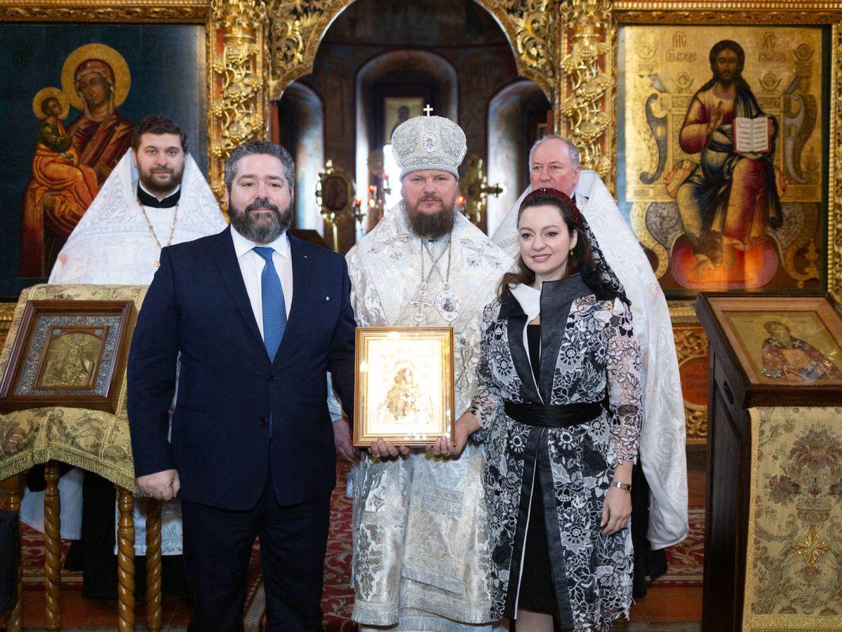 Foto:  El gran duque y su prometida, en este día tan especial para ellos. (Foto: Cancillería de la Casa Imperial de Rusia)