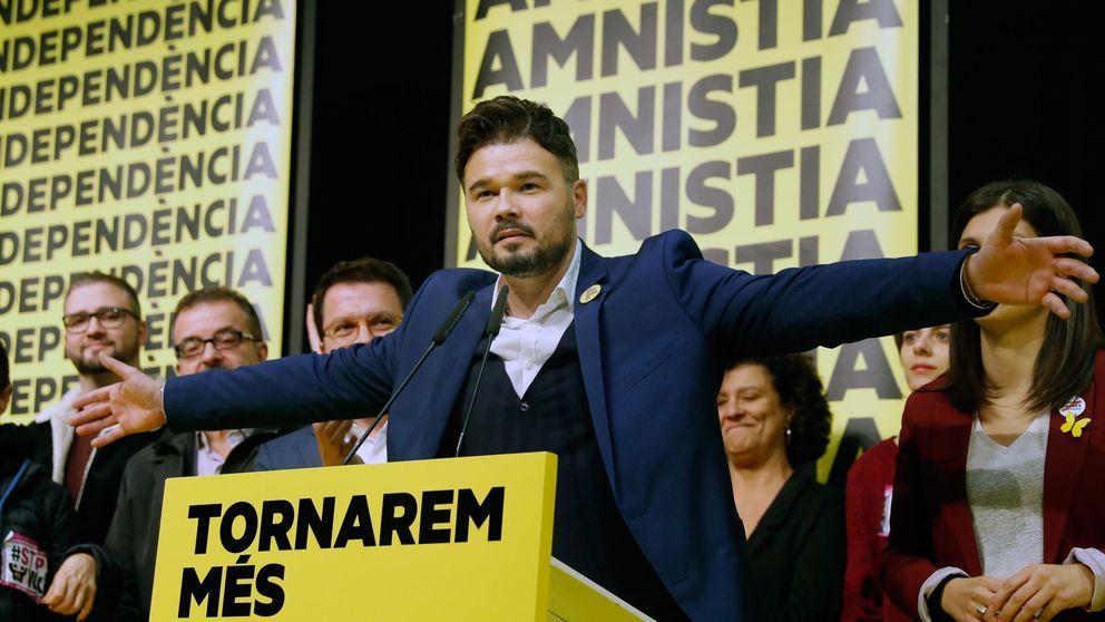 Rufián (ERC) niega por ahora su apoyo a Sánchez para ser investido presidente