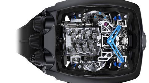 Así es el sorprendente y exclusivo reloj de Bugatti que contiene un motor en su interior