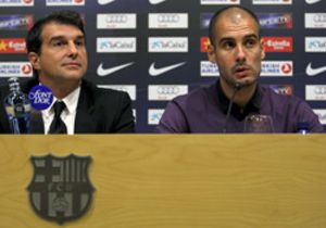 La renovación verbal de Guardiola: para contentar a Laporta y callar a la prensa