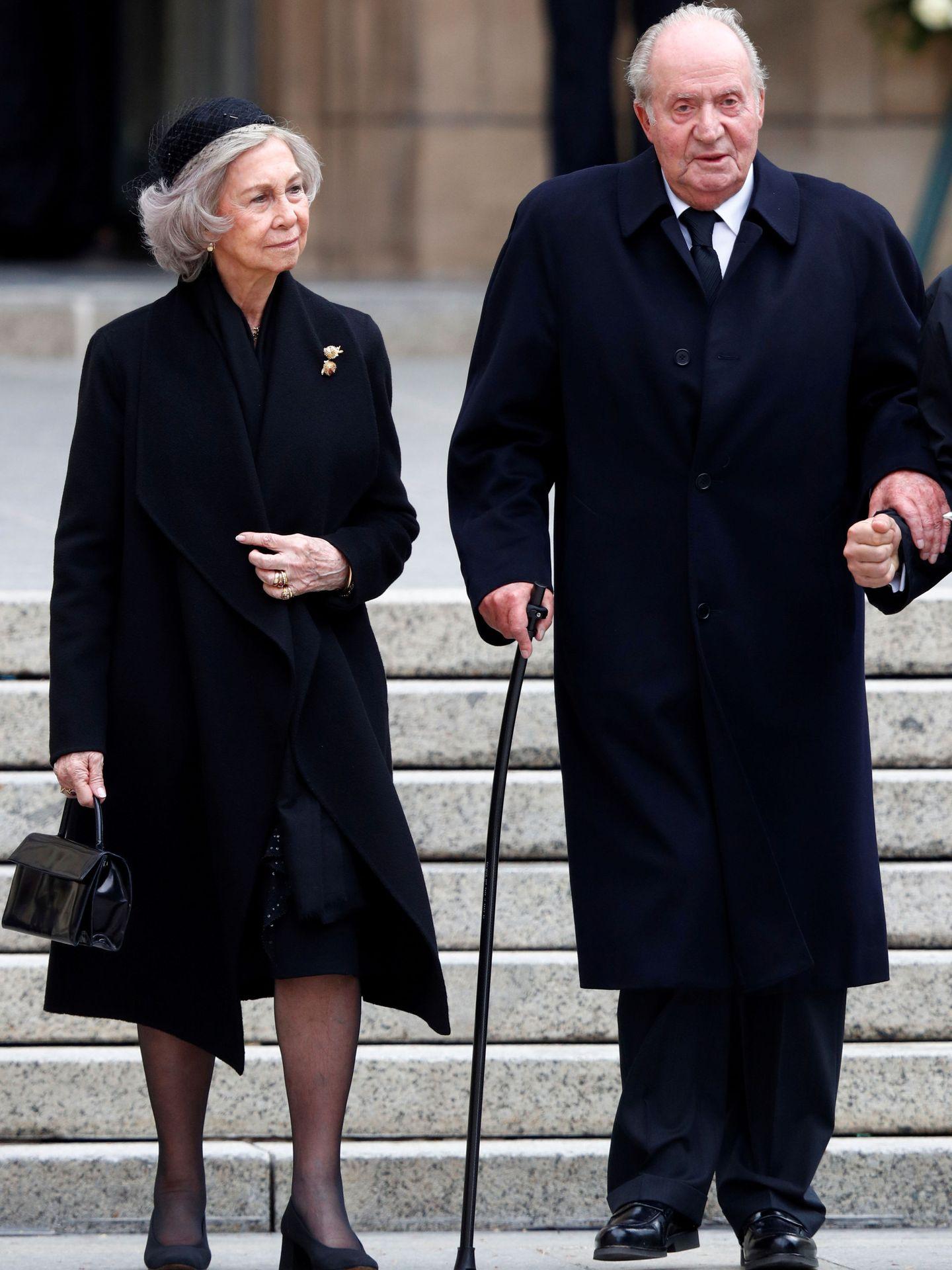 Los reyes Juan Carlos y Sofía, en el funeral de Jean de Luxemburgo el año pasado. (Reuters)