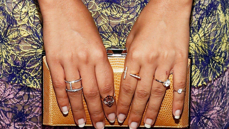 La manicura de Yara Shahid. (Getty)