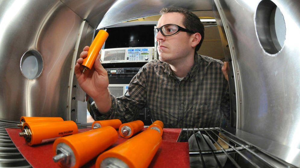 Foto:  Nuevas baterías de ion de litio semisólidas fabricadas por la firma 24M.