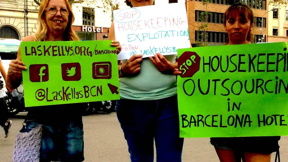 Las Kellys: limpian habitaciones de hotel y desconfían de los sindicatos