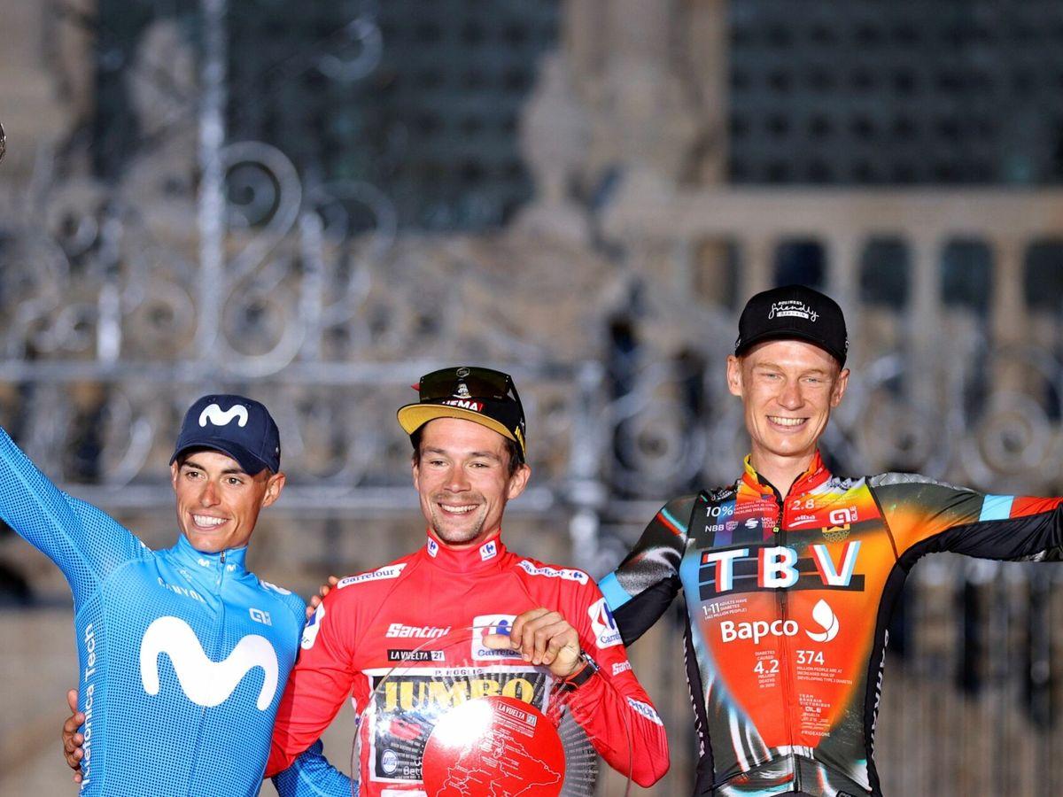 Foto: Santiago de Compostela acogió el final de La Vuelta a España 2021. (Efe)