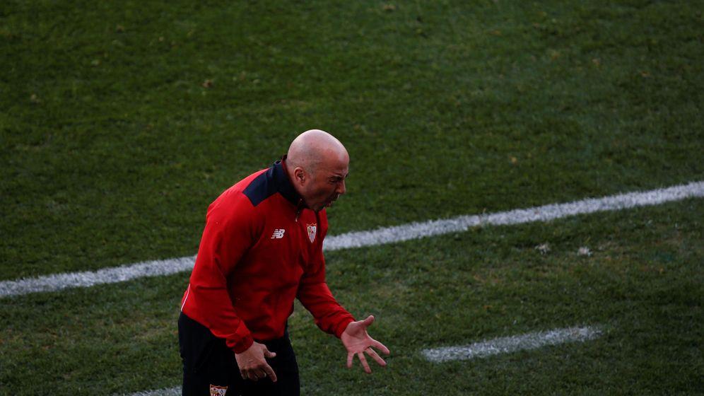 Foto: Sampaoli, en el partido contra el Atlético (Reuters)