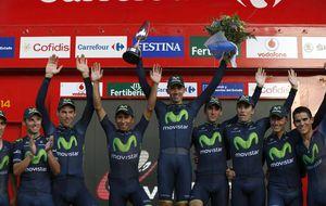 Castroviejo, líder de la Vuelta tras la victoria de Movistar en la crono
