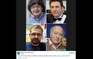 Medios y dibujantes de todo el mundo homenajean a los fallecidos en el ataque a Charlie Hebdo