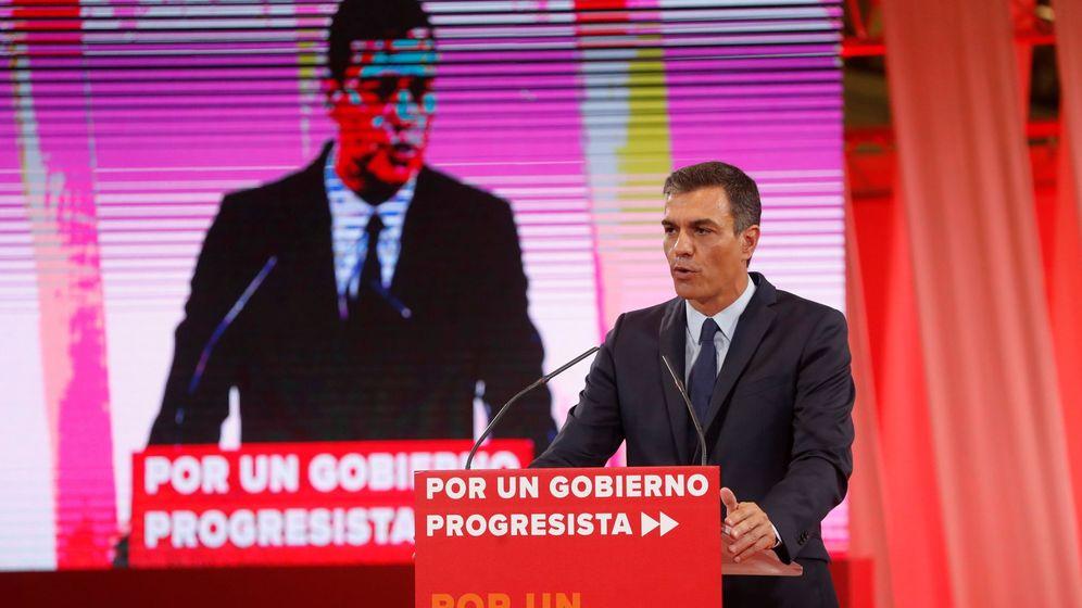 Foto: El presidente del Gobierno en funciones, durante la presentación del acuerdo programático para un gobierno de progreso. (EFE)