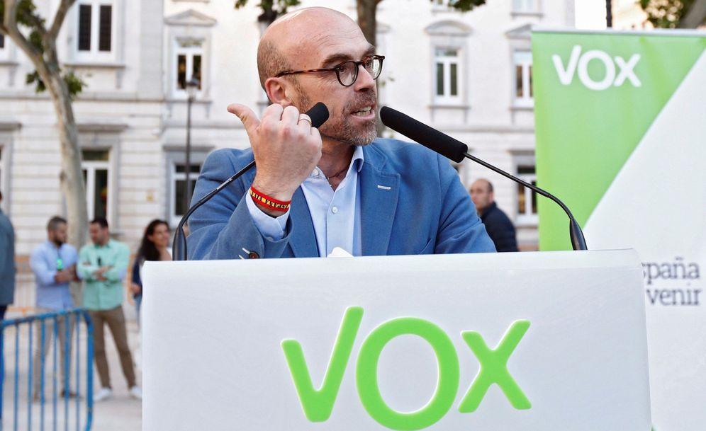 Foto: Jorge Buxadé, número uno de Vox en el Parlamento Europeo. (EFE)