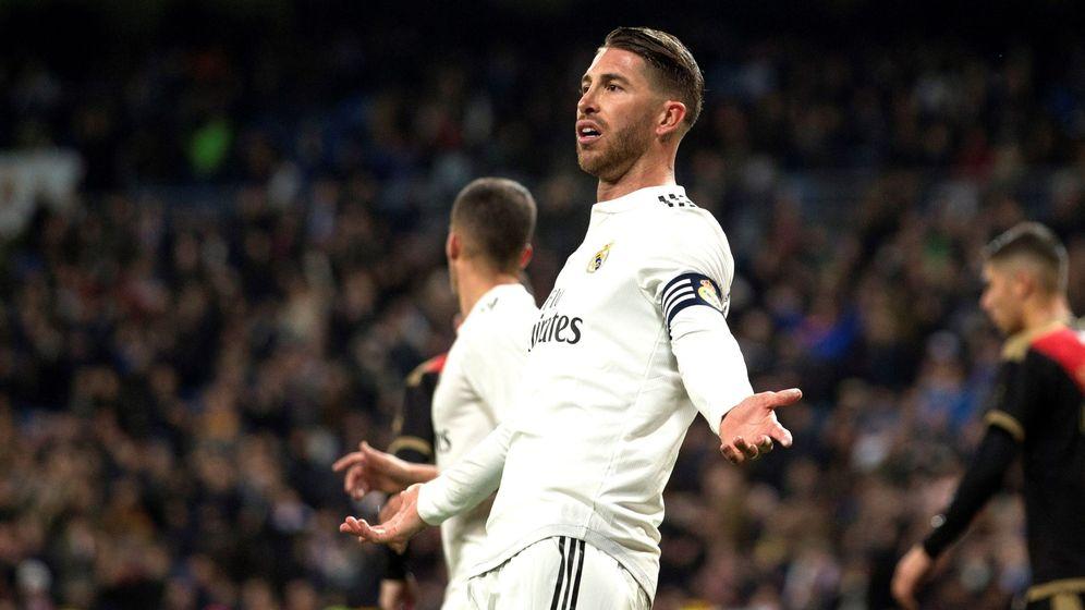 Foto: Sergio Ramos, durante el último partido del Real Madrid. (EFE)