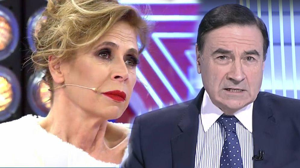 Foto: Ágatha Ruiz de la Prada y Pedro J. Ramírez. (Telecinco/RTVE)
