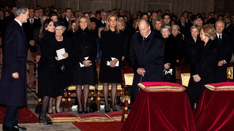 El funeral de la infanta Pilar. (EFE)