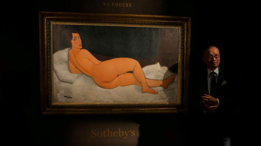 Foto: El cuadro de Modigliani que se ha subastado en Sotheby's. (Reuters)