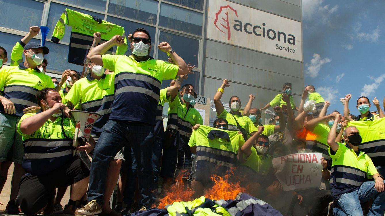 La plantilla de Acciona, en huelga: quieren los mismos derechos que la de Nissan