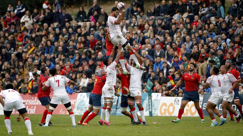 Foto: Las mejores imágenes del España-Tonga de rugby