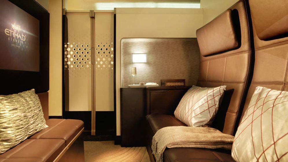 Foto: Una cabina con sala de estar y baño privado. (Etihad Airways)
