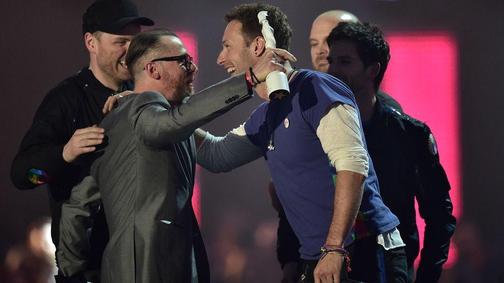 Foto: Coldplay durante los Brit Awards