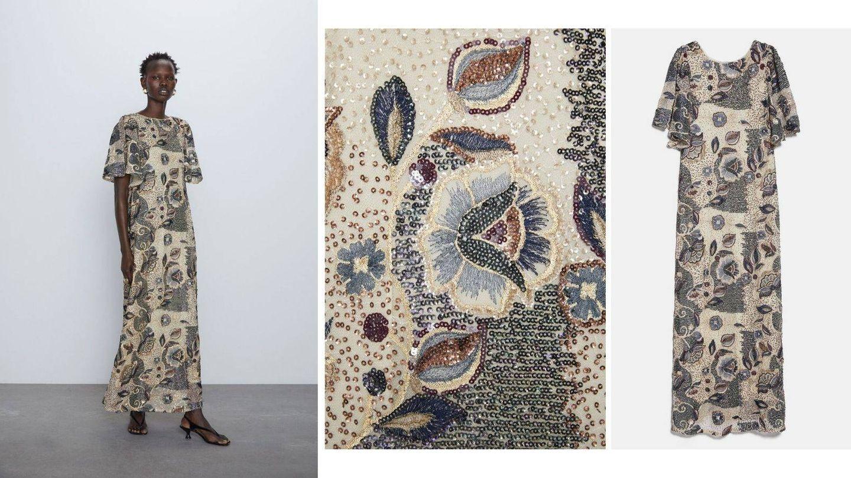 Detalle del vestido de Zara. (Cortesía)
