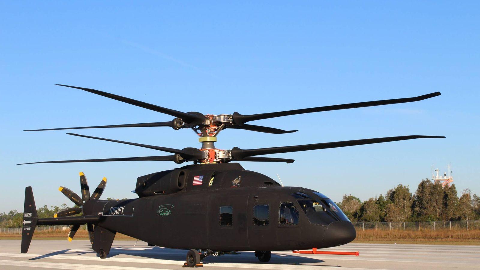 Foto: El SB-1 Defiant en diciembre de 2018. (Foto: Sikorsky-Boeing)