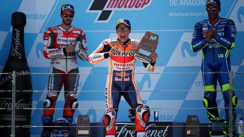 Márquez doblega a Dovizioso y aumenta su ventaja en el Mundial de MotoGP