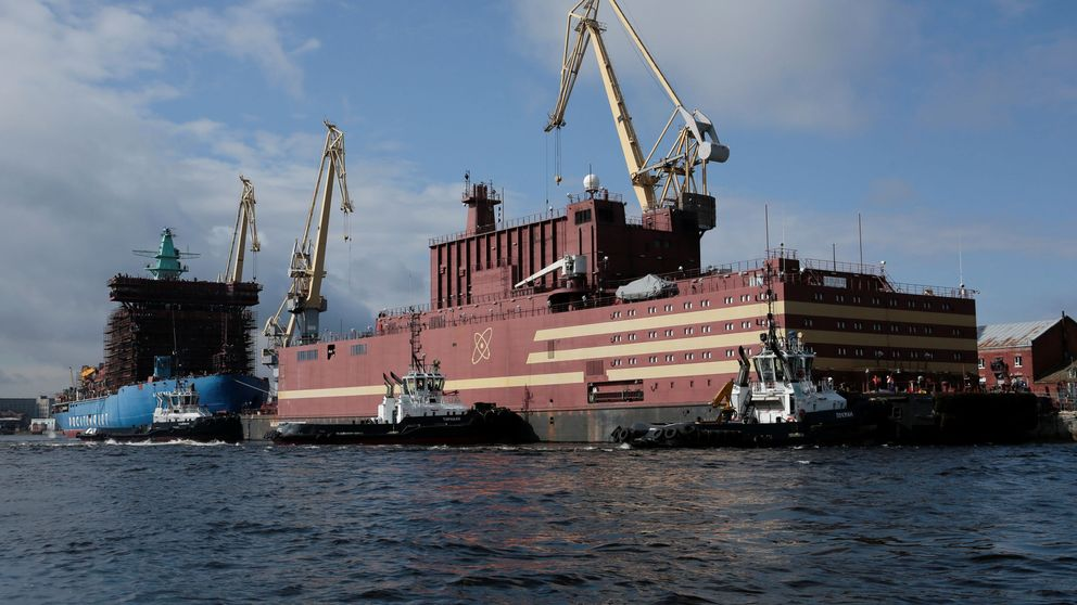Así es el primer y gigantesco buque nuclear ruso