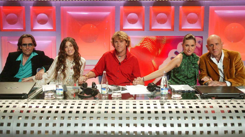 Alejandro Abad con Noemí Galera y Risto como jurado de 'OT' en Telecinco