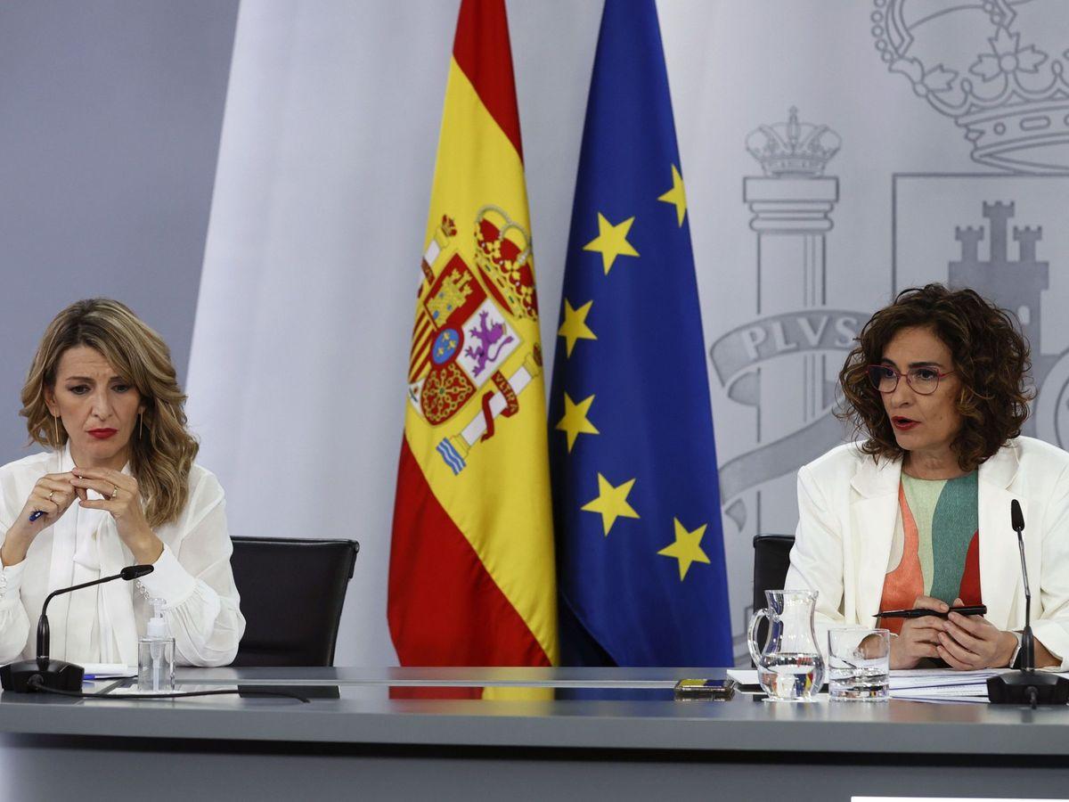 Foto: Rueda de prensa tras un Consejo de Ministros.