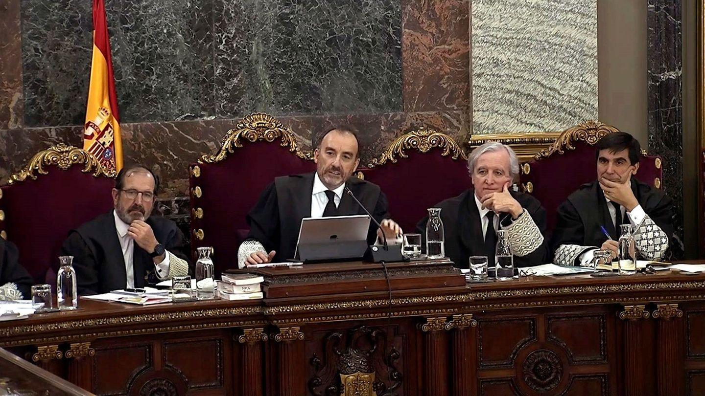 El juez Marchena, durante el juicio. (EFE)