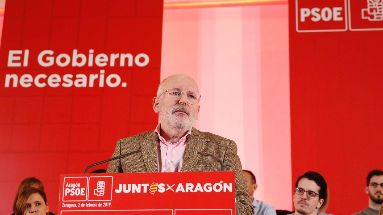 El vicepresidente primero de la Comisión Europea y candidato de los socialistas a la presidencia del Ejecutivo comunitario, el holandés Frans Timmermans, este 2 de febrero en Zaragoza. (Inma Mesa   PSOE)