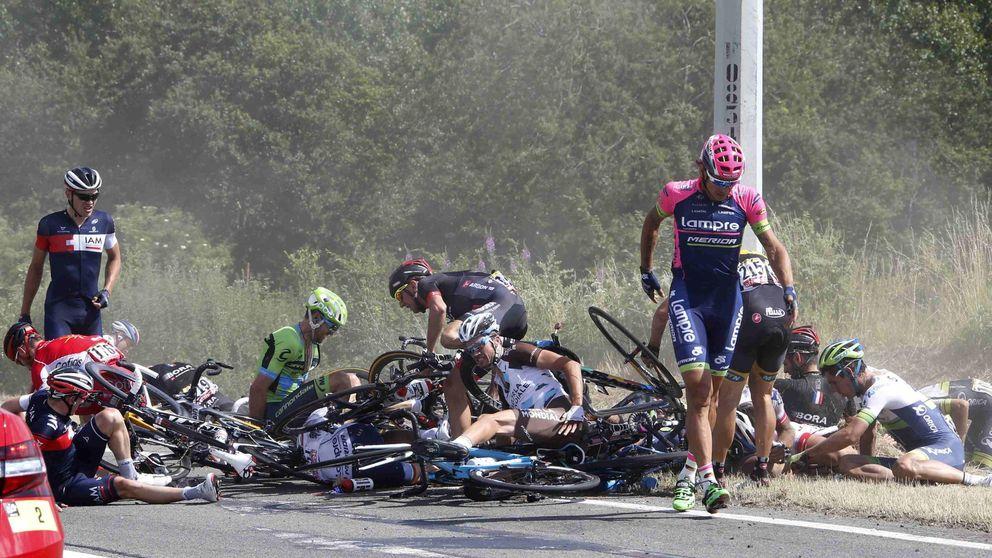 Una caída masiva para, por primera vez en la historia, el Tour