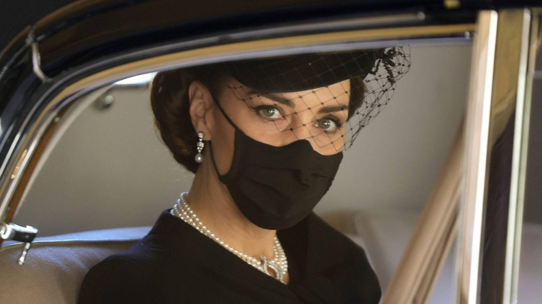 Kate Middleton, tras el funeral del duque de Edimburgo. (Cordon Press)