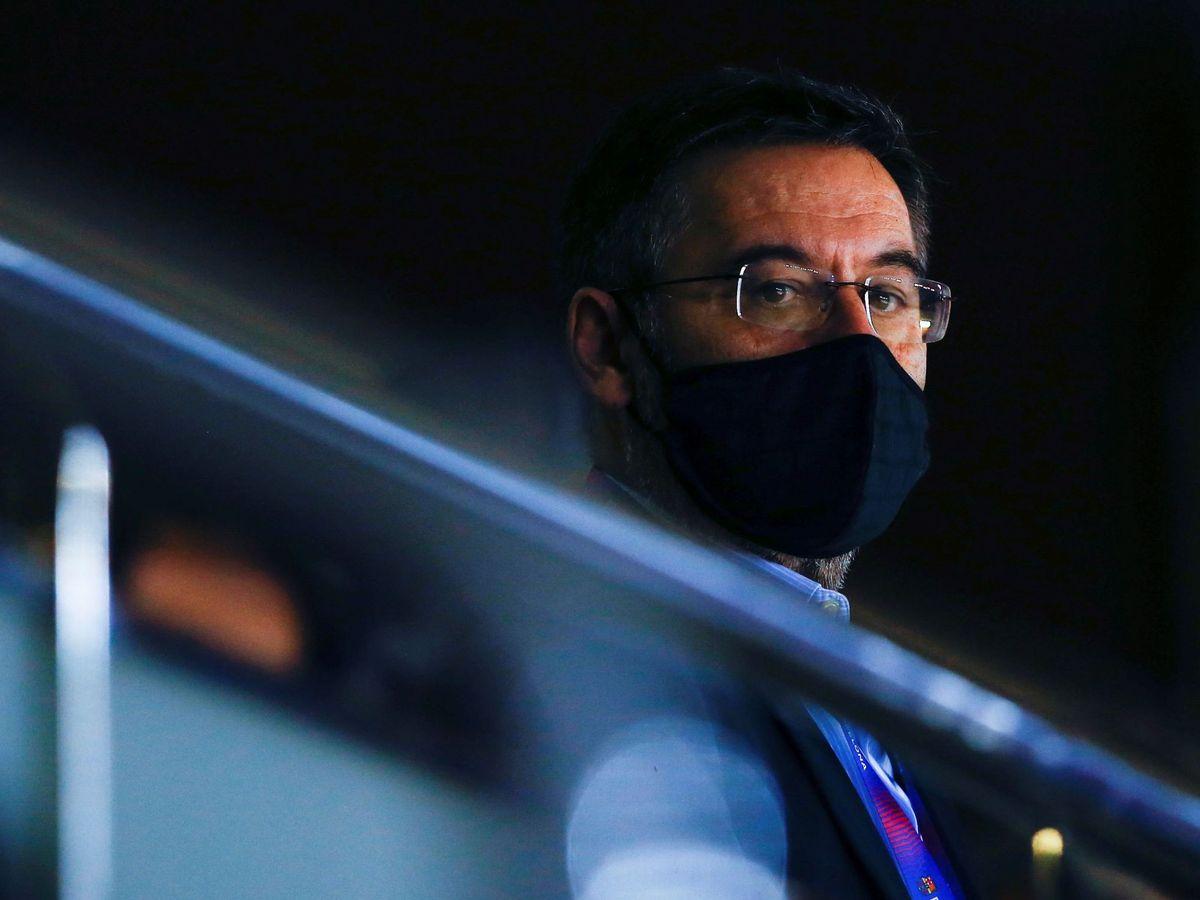 Foto: Josep Maria Bartomeu, en un partido de la Euroliga el pasado día 1. (Efe)
