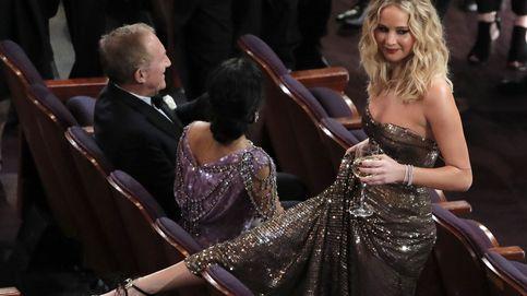 Jennifer Lawrence y su copa de vino: el alma de la fiesta de la gala de los Oscar