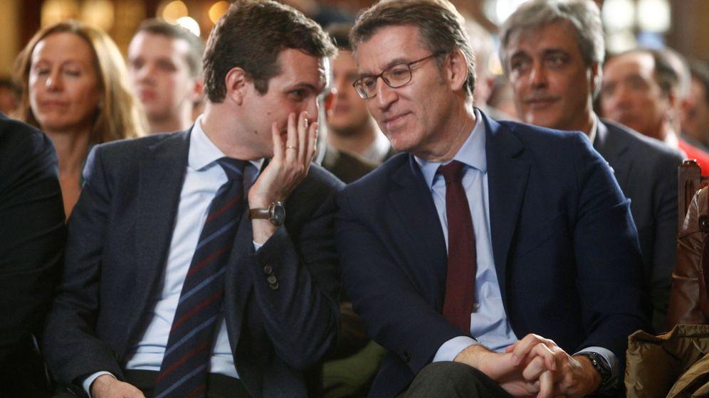 Foto: Pablo Casado y Aberto Núñez Feijóo. (EFE)