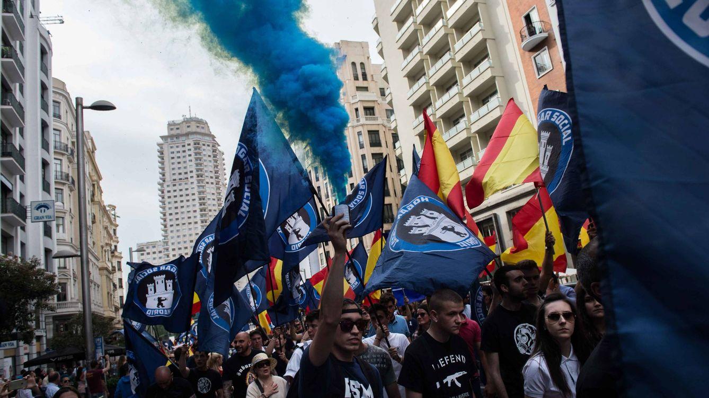 Foto: Marcha neofascista en el centro de Madrid