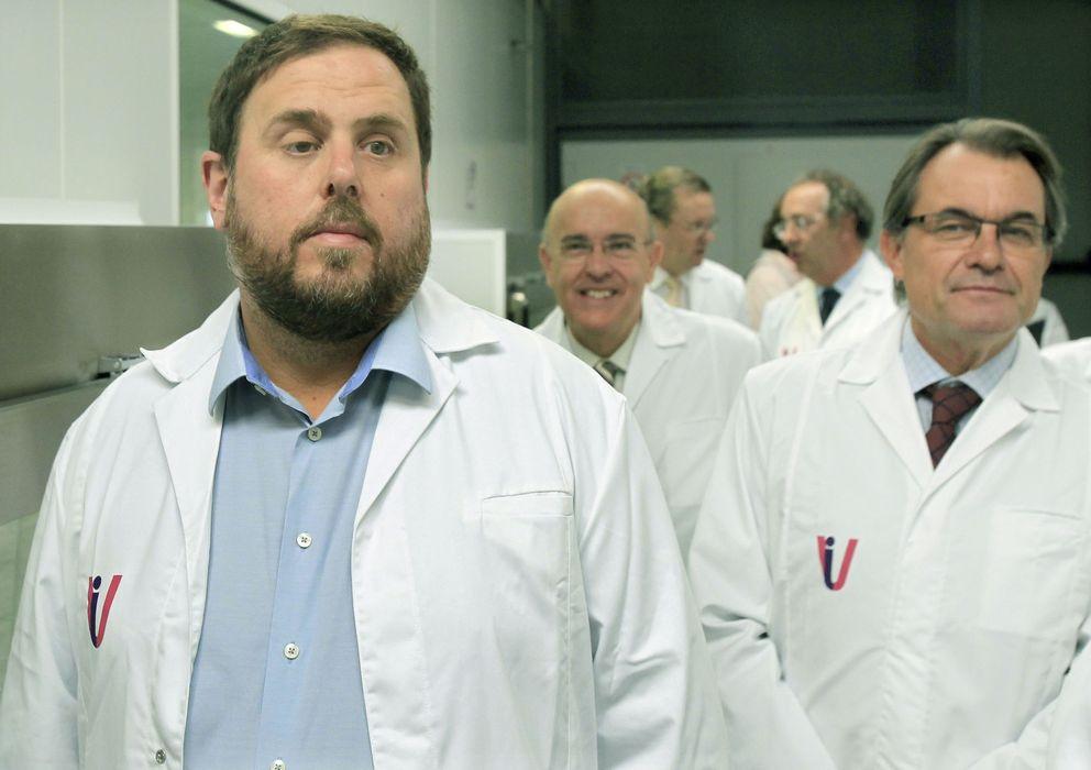 Foto: Oriol Junqueras (ERC) y Artur Mas (CiU)