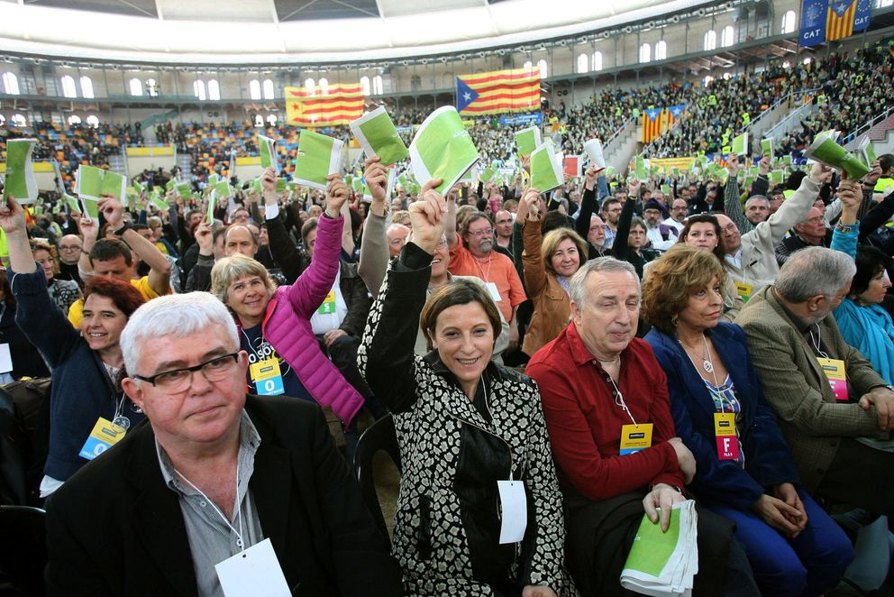 Acto de la Asamblea Nacional Catalana (ANC) en Tarragona (Efe).