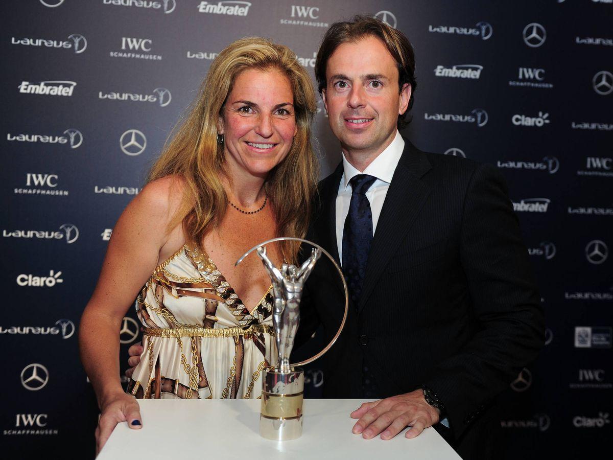 Foto: Arantxa Sánchez Vicario y Pep Santacana, en los premios Laureus de 2013. (Getty)