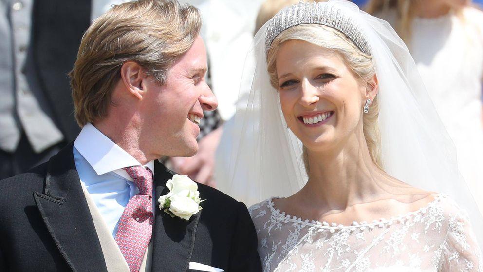 Todos los detalles del vestido de novia y la tiara de Lady Gabriella el día de su boda