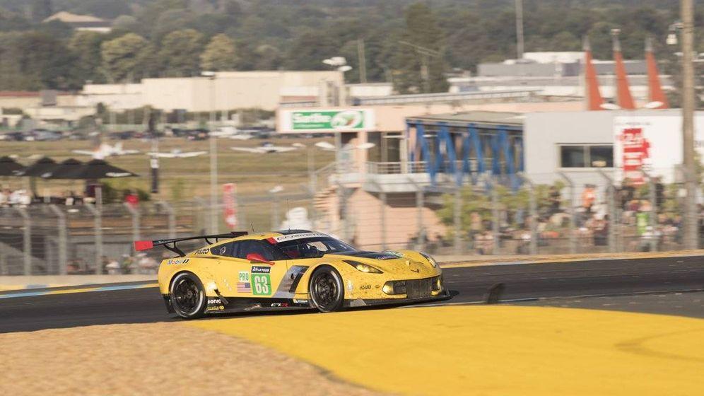 Foto: Antonio García, durante la carrera. (Corvette Racing)