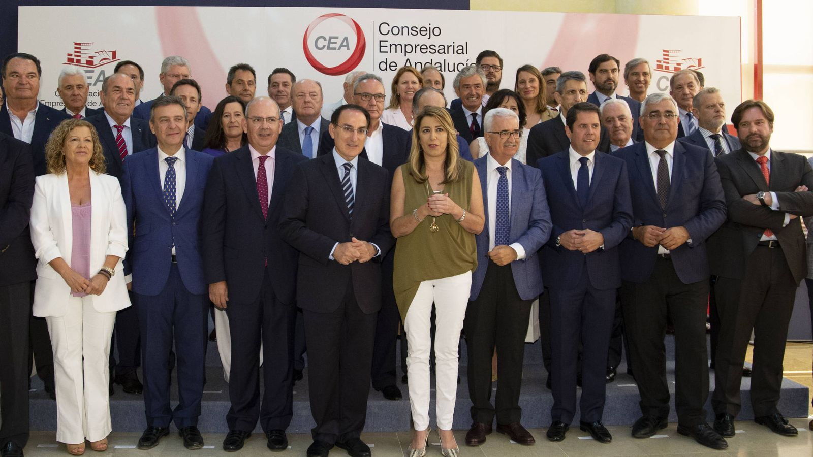 Foto: Foto de familia del Consejo Empresarial de Andalucía. (CEA)