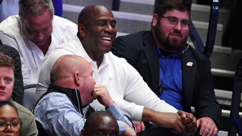 Magic Johnson es el presidente de los Lakers. (USA TODAY Sports)