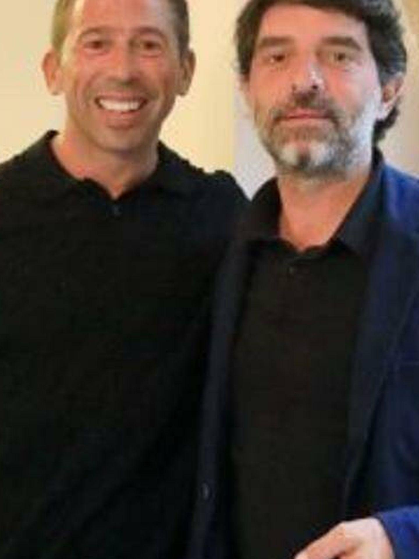 Raúl Tamudo, con Juli Guiu, presidente de Clipper's Live. (Cortesía)