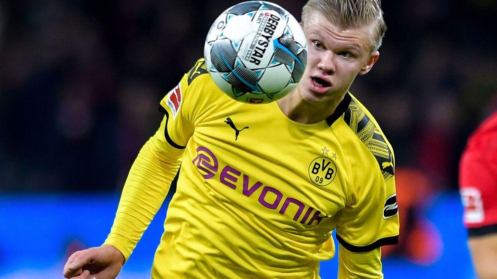Foto: Haaland en un partido de la Bundesliga. (EFE)