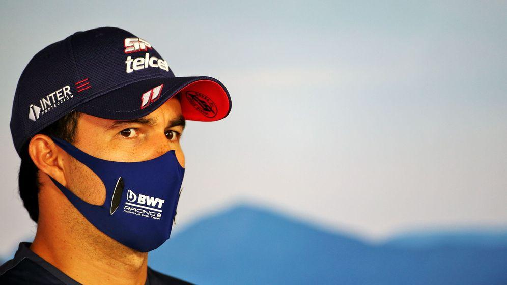 Foto: Sergio Pérez es el primer piloto en dar positivo por coronavirus en la F1. (EFE)