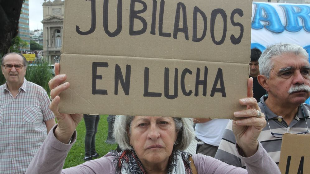 Foto: Concentración de jubilados. (EFE)