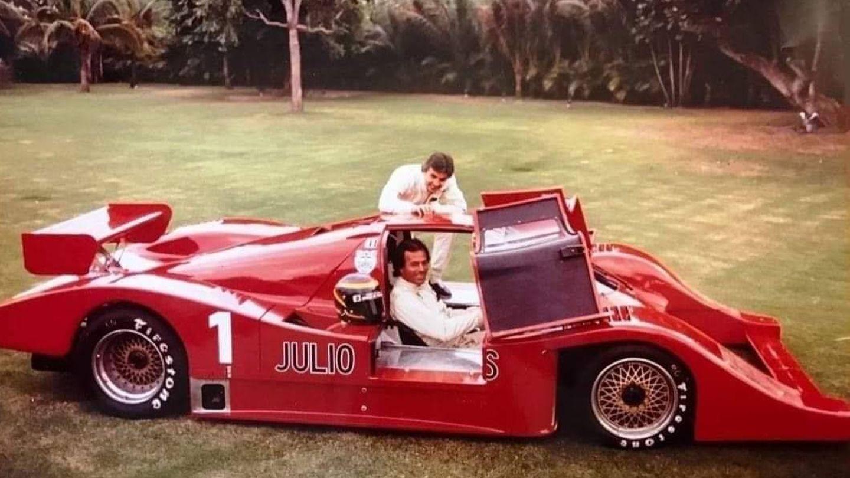 Emilio de Villota y Julio Iglesias, cuando el cantante español apadrinaba las carreras del piloto español en Estados Unidos tras la F1