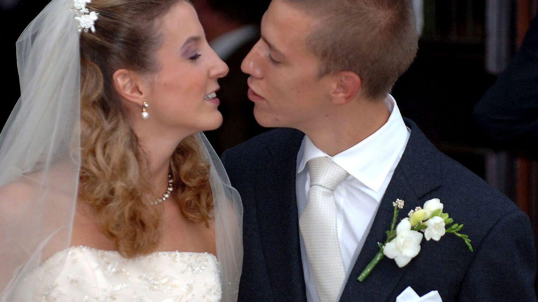 Luis y Tessy, en su boda. (EFE)